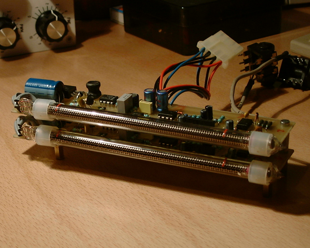 Audio Vu Meter With In13 Or In9 Russian Nixie Bargraph Tubes How To Build 1 Circuit Diagram